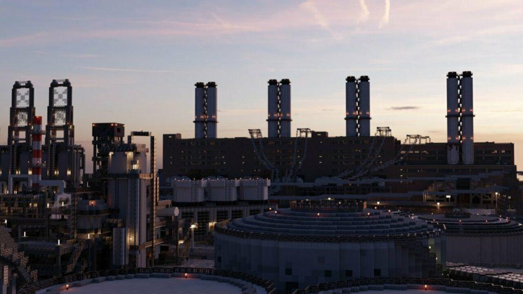 Индустриальный район с заводами и прочим производством.