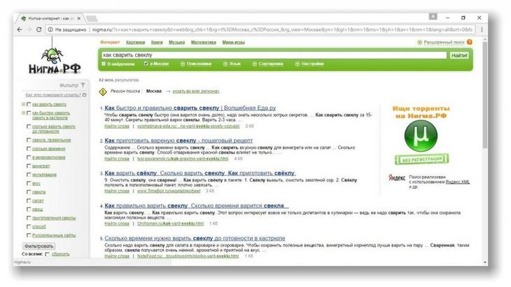 Поисковая программа Нигма