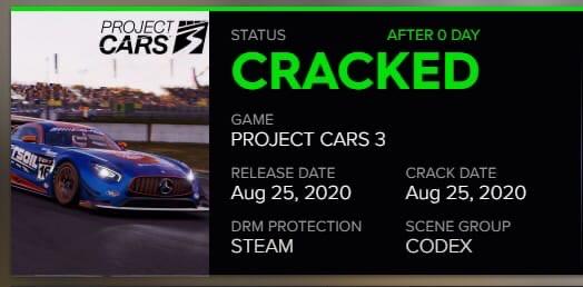 Хакеры взломали Project CARS 3 за три дня до релиза, который должен состояться 28 августа.