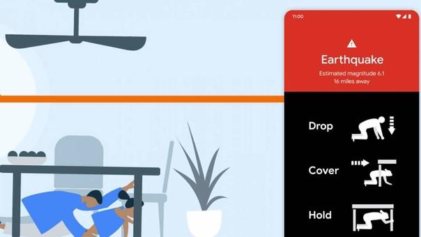 Google встроит в Android систему раннего оповещения о землетрясении