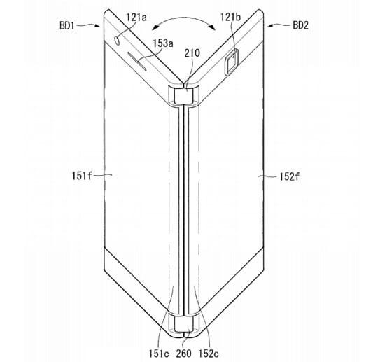 Появился патент на сгибаемый смартфон от LG.