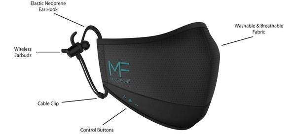Американский стартап планирует выпустить защитные маски MaskFone со встроенной гарнитурой для звонков и музыки.
