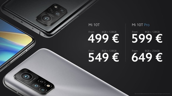 Xiaomi представила Mi 10T и Mi 10T Pro.