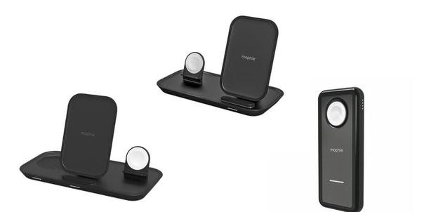 Компания Mophie представила беспроводные зарядки для iPhone и Apple Watch.