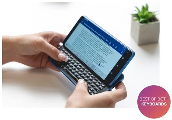 Английский стартап F(x)tec представил оригинальный Android-слайдер Pro1-X с выдвижной клавиатурой.