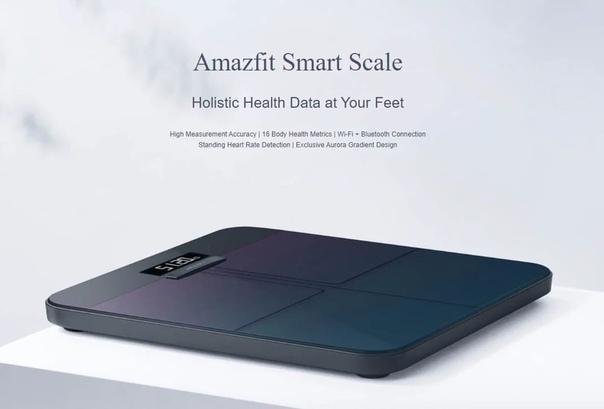 Компания Huami представила умные весы Amazfit Smart Scale.