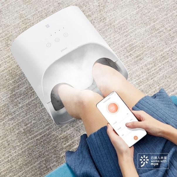 На Xiaomi Youpin представлена умная паровая ванночка для ног Zdeer Smart Steam Footbath Z9.